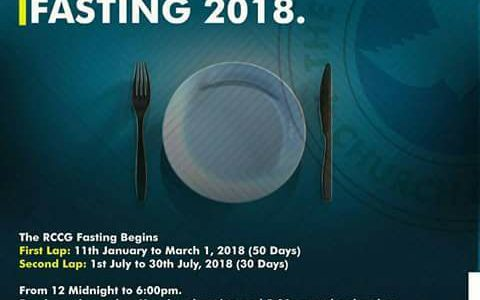 RCCG 50 Days Fasting and Prayer Points in 2018 [First Lap]