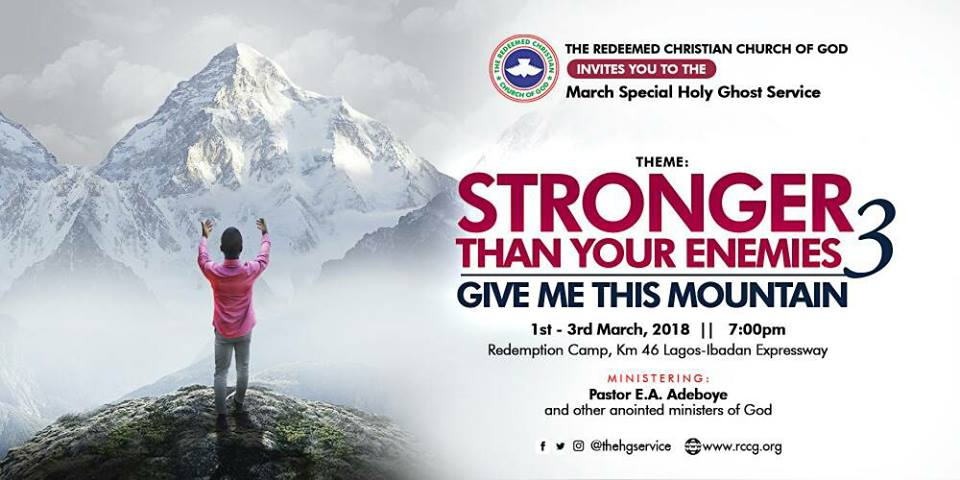 Special Holy Ghost Service March 2018 By Pastor E.A. Adeboye (ANOINTING SERVICE)