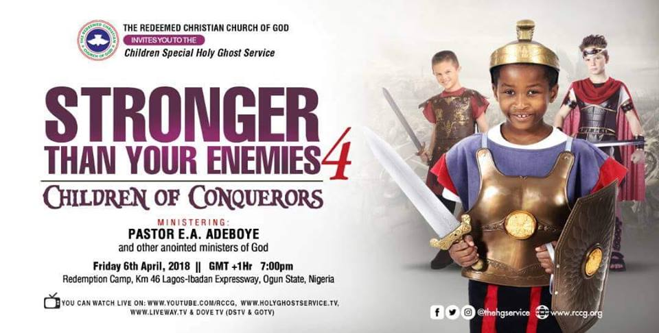 """Watch RCCG Holy Ghost Service April 2018 LIVE """"Stronger Than Your Enemies 4"""""""