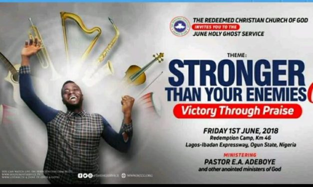 """Watch LIVE: RCCG Holy Ghost Service June 2018 """"Stronger Than Your Enemies 6"""""""