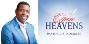 Open Heavens 19 September 2018, Pastor E.A. Adeboye
