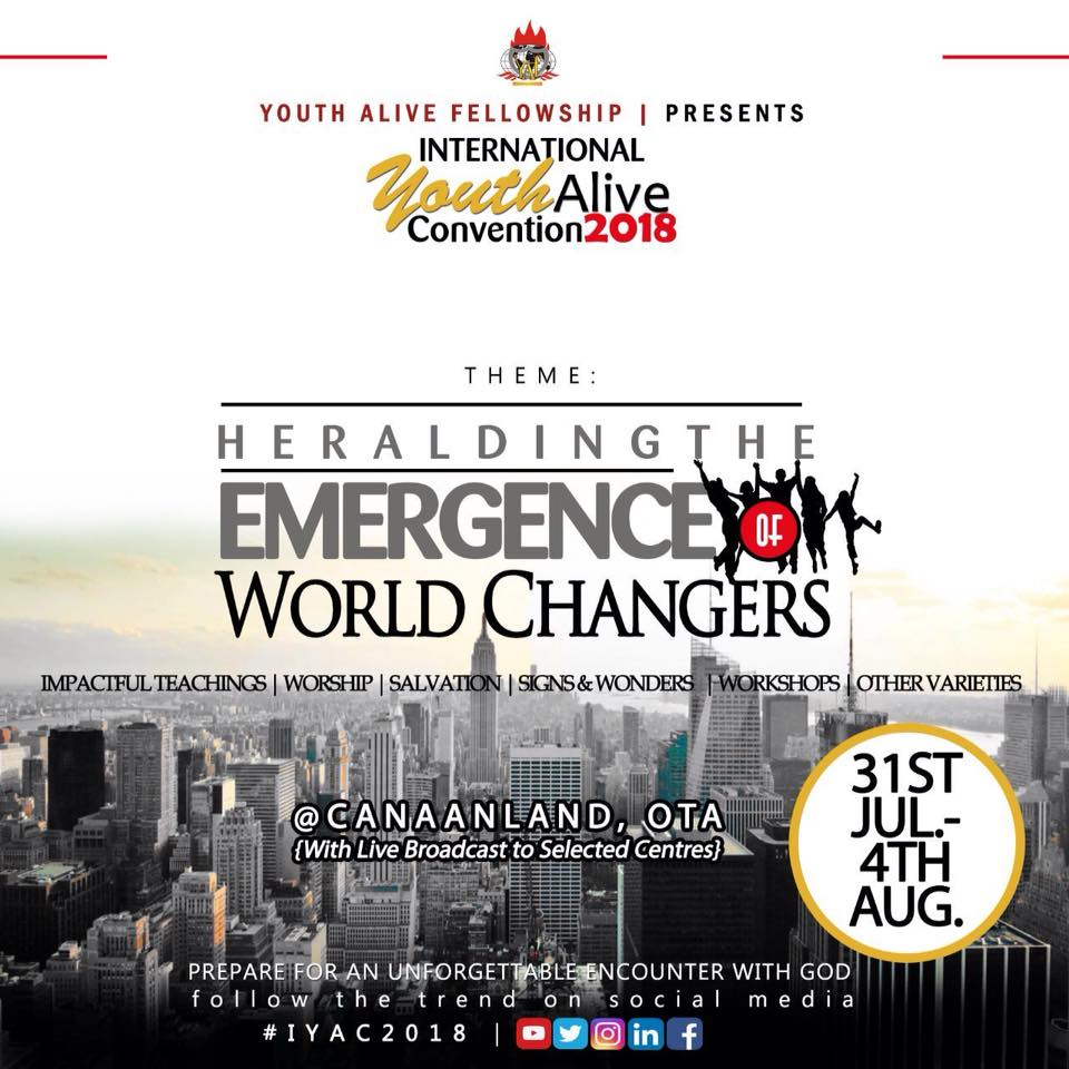 Watch Live 2018 Winners Youth Alive Convention Iyac Heralding The Emergence Of World Changers Flatimes