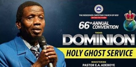 "Watch LIVE: RCCG August 2018 Holy Ghost Service – ""Dominion"""