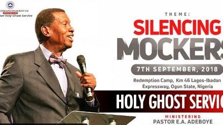 Watch LIVE: RCCG September 2018 Holy Ghost Service – Silencing Mockers