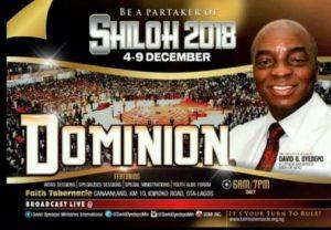 Shiloh 2018 dominion Bishop David Oyedepo