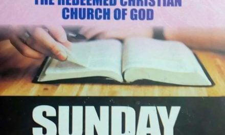 RCCG Sunday School STUDENT Manual 8 November 2020 – Lesson 10