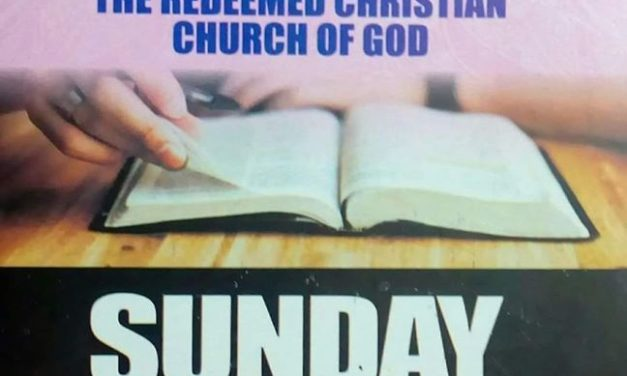 RCCG Sunday School STUDENT Manual 25 October 2020 – Lesson 8