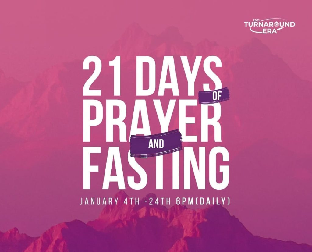 WINNERS PRAYER POINTS FOR 21-DAYS OF PRAYER AND FASTING 2021