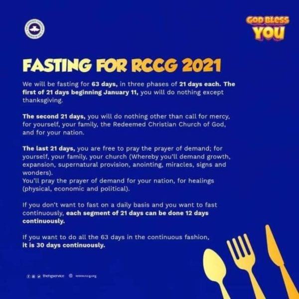 Rccg fasting prayer guide