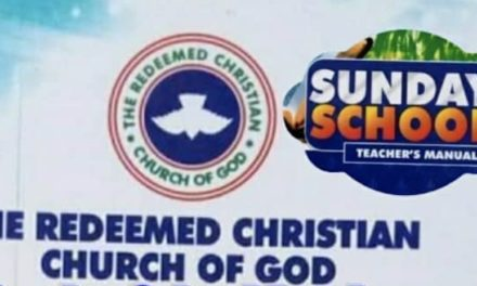 RCCG SUNDAY SCHOOL TEACHER MANUAL 4 APRIL 2021 – LASTING LEGACY
